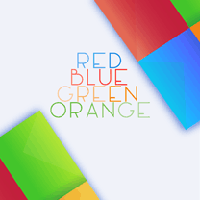 Red Blue Green Orange