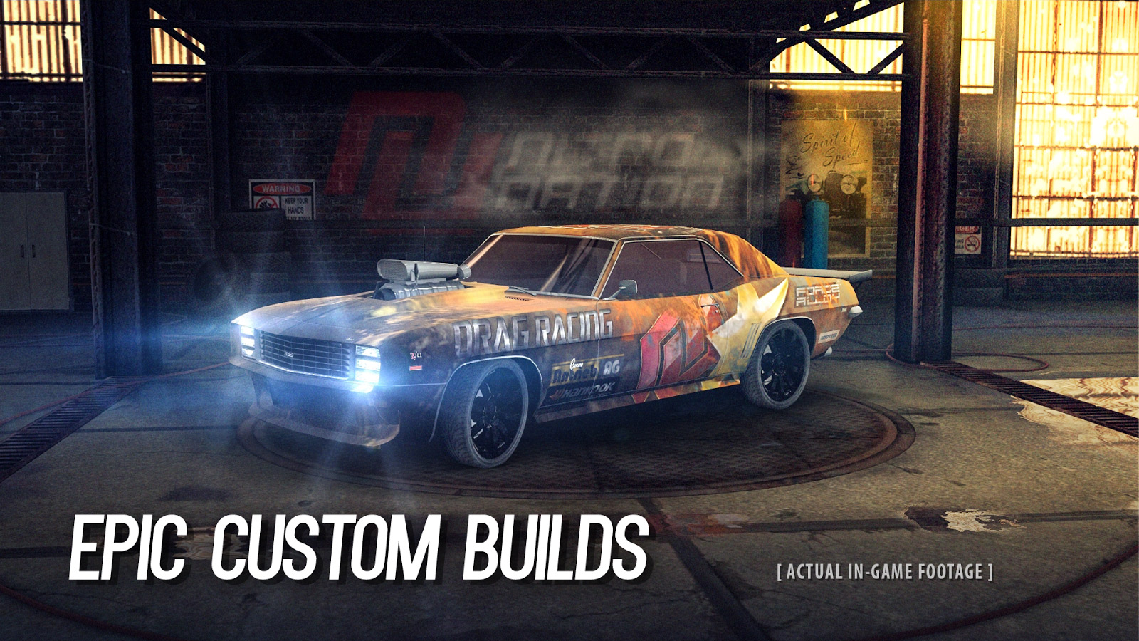 muscle car drag racing game