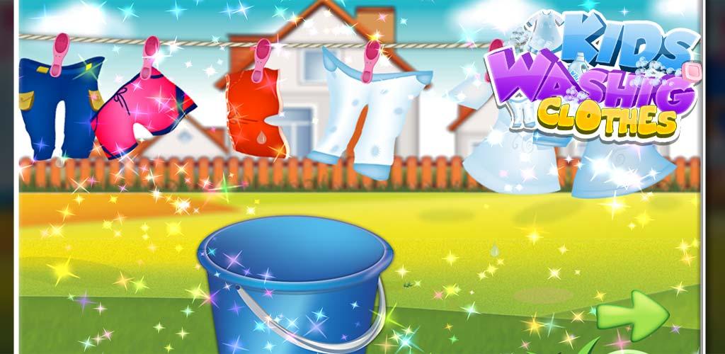 Kids Washing Clothes 3