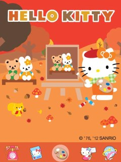 Hello Kitty Drawing Vintage Theme01