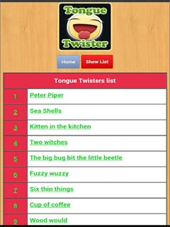 Tongue Twisters 2