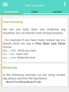 HTML Code Play 2