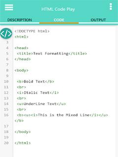 HTML Code Play 3