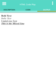 HTML Code Play 4