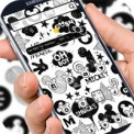 Cute Mouse Black & White Graffiti Theme 3d