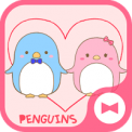 Cute Wallpaper Couple Wallpaper: Penguins Tema