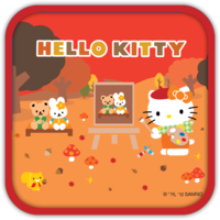 Hello Kitty Drawing Vintage Theme