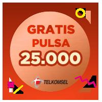 Pulsa Telkomsel IDR 25,000