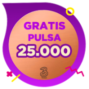 Pulsa 3 IDR 25,000