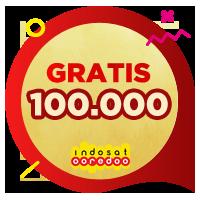 Pulsa Indosat IDR 100,000