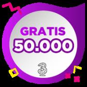 Pulsa 3 IDR 50,000