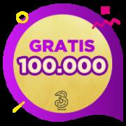 Pulsa 3 IDR 100,000