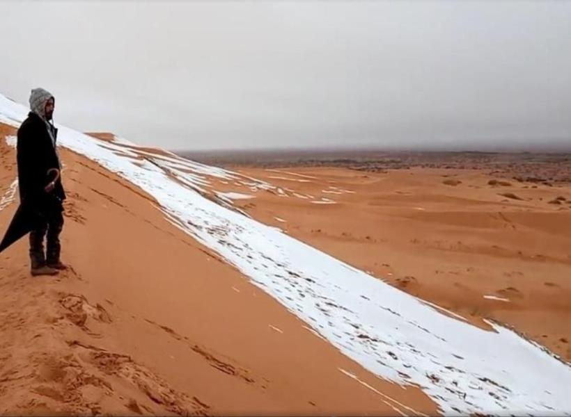 Snow on Sahara