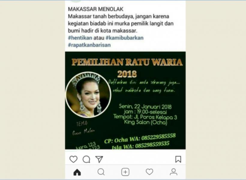 Heboh Pemilihan Ratu Waria di Makassar
