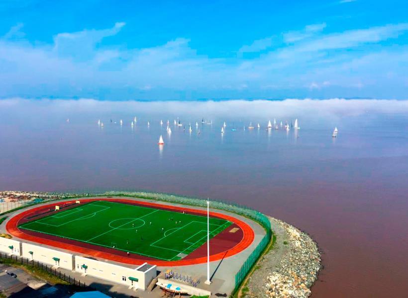 Stadion di Rusia Seperti Mengapung