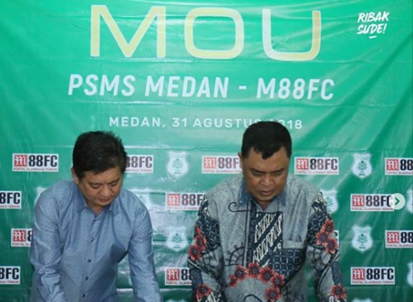 PSMS Medan Dapat Sponsor Situs Judi Online?