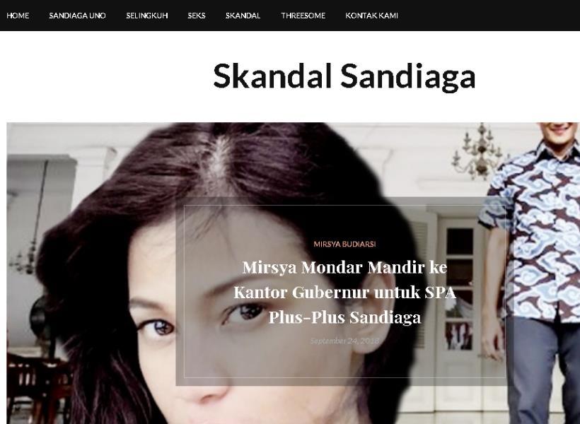 Situs Skandalsandiaga.com Serang Cawapres Nomor Urut 2
