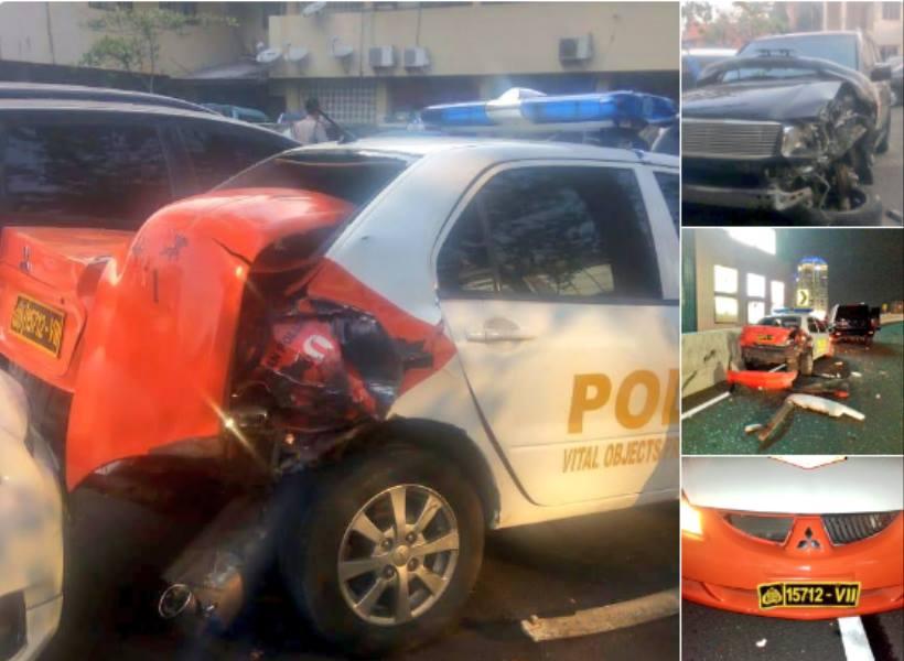 Mobil Striker Persija Tabrak Mobil Polisi