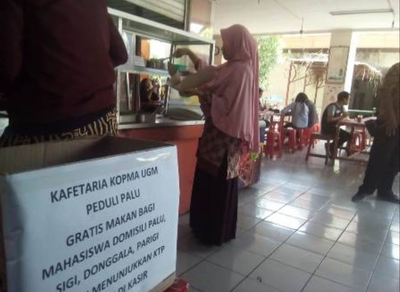 Kantin UGM Siapkan Makanan Gratis Bagi Mahasiswa Asal Sulteng