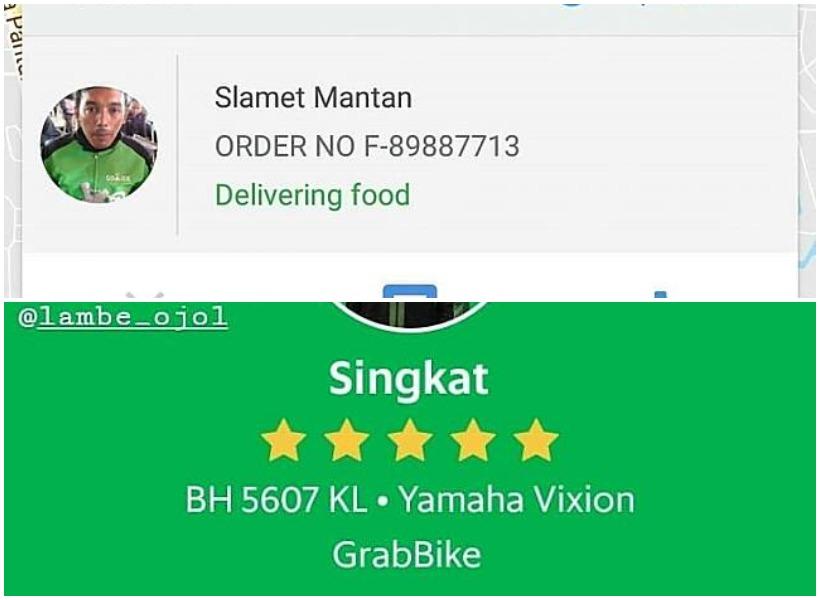 Nama-nama Unik Driver Ojol Hasil Temuan Netizen