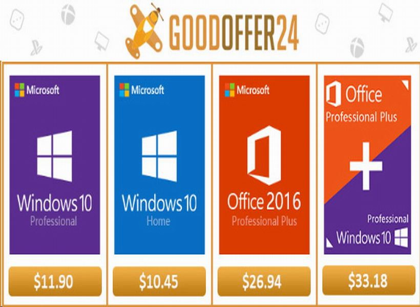 Microsoft Windows 10 Professional Under 12 USD & Free Shipping!