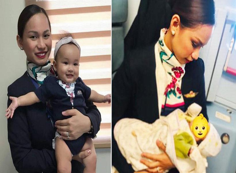 Pramugari Bantu Susui Bayi Saat Penerbangan