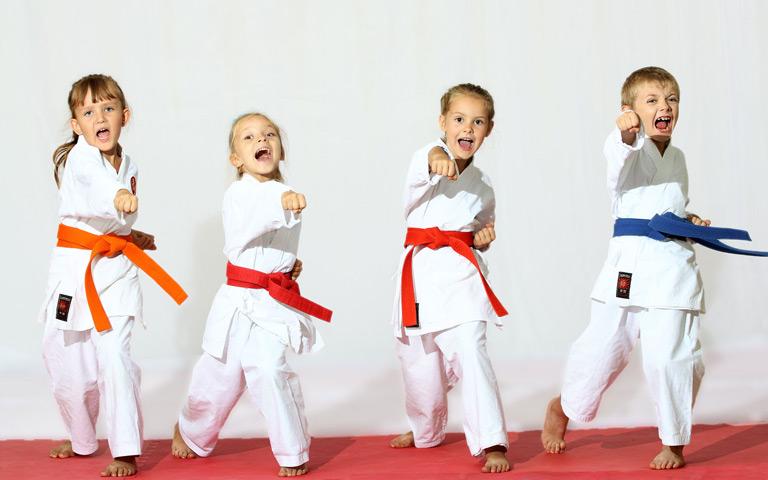 Little Kid Doing Taekwondo
