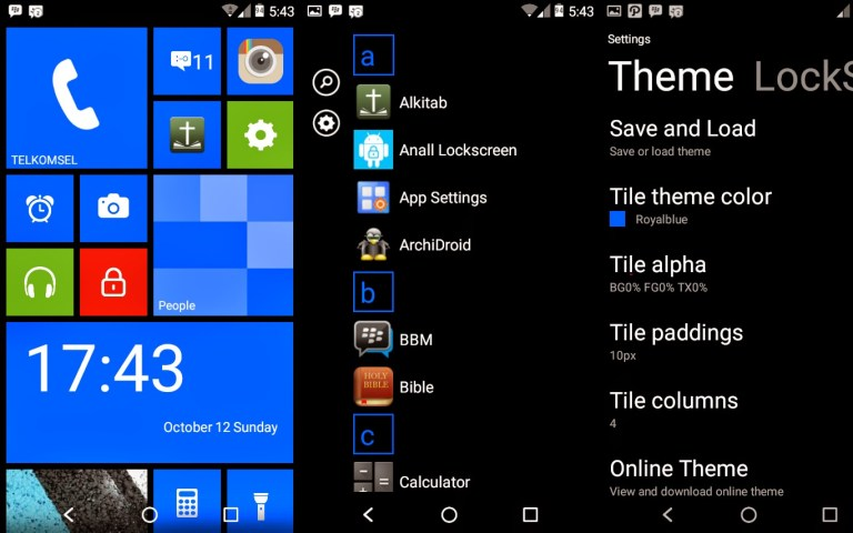 Preview Aplikasi: WP 8 Launcher