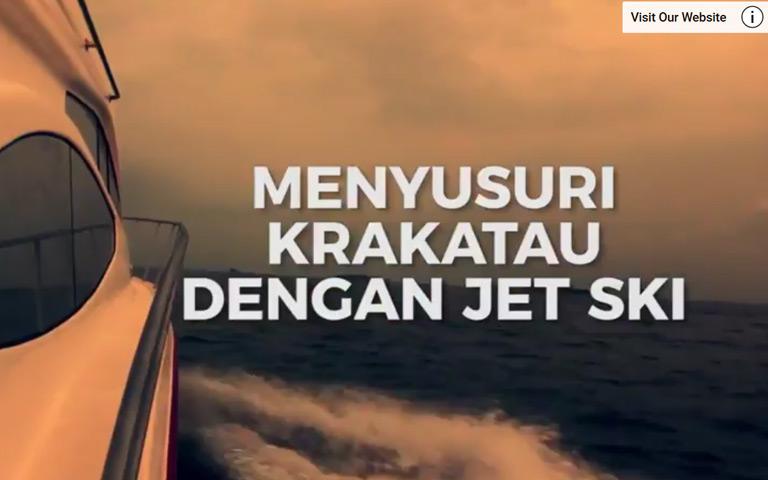 TRAVEL: Keren Banget! Wisata Krakatau dengan Tunggangan Jet Ski