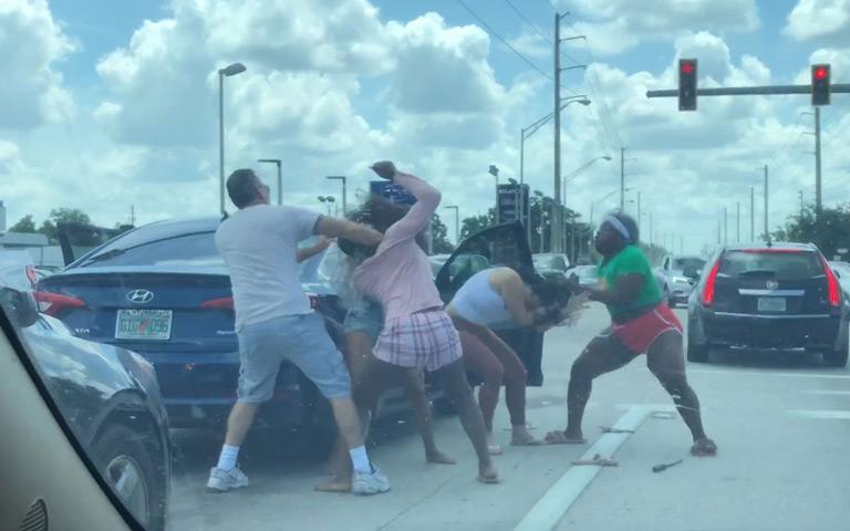 CRAZY ROAD RAGE FIGHT