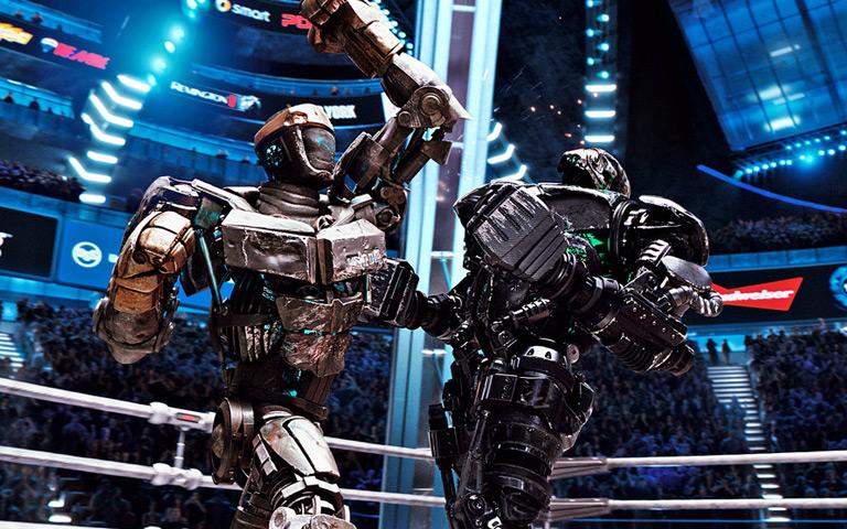 Real Steel - Robot Boxing Scenes