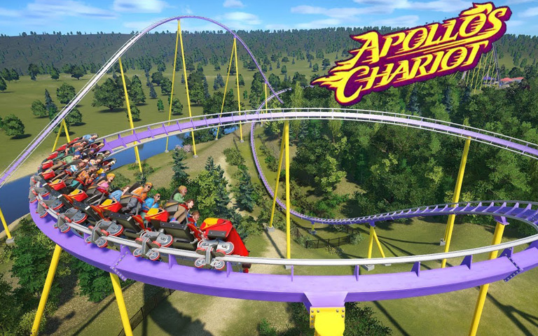 Apollo's Chariot front seat on-ride
